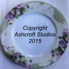 Double violet rimmed plate