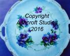 Pansy cake plate