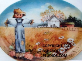 Scarecrow and Pumpkin Scene